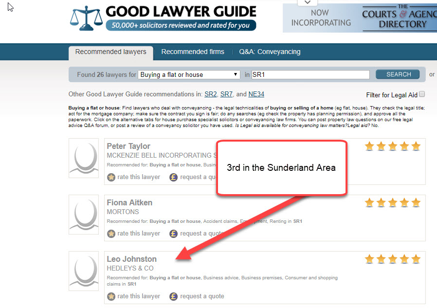 Hedleys Ranking Good Lawyer Guide